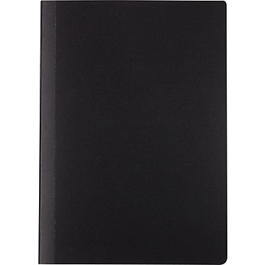 Staples Mini Poly Composition Notebook, Black, 5