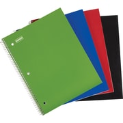 "Staples® 1 Subject Notebook, 8-1/2"" x 11"", College Ruled, Green"
