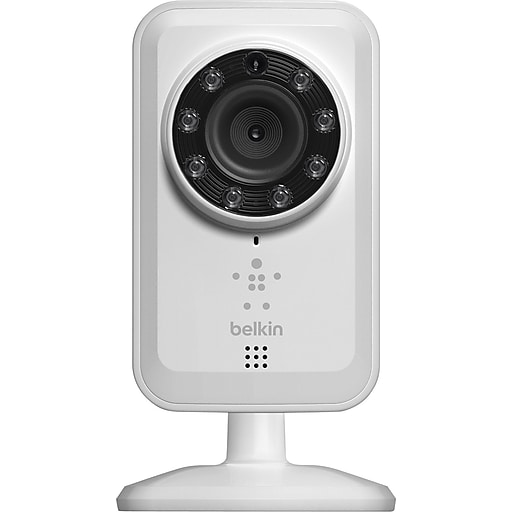 Belkin NetCam WiFi Camera with Night Vision, White