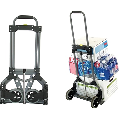 Magna Cart Foldable Hand Truck, 150 lbs., Silver/Black (109229)