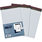 "Cambridge Perforated Pads, 5"" x 8"", White, 50 Sheets, 3/Pack"