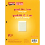 "Staples® Graph 10:1 cm Quad Refill Paper, 8-3/8"" x 10-7/8"", 20 Sheets"