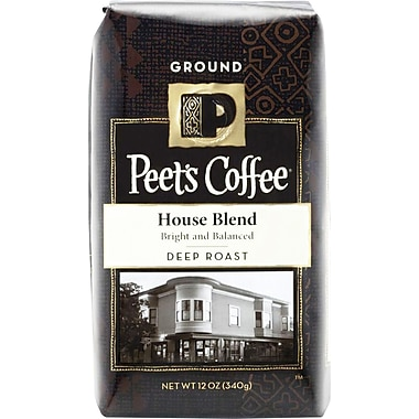 Peet's House Blend, Deep Roast Ground Coffee, 12 oz