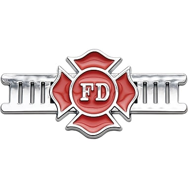Badgez Chrome Emblems, Fire Fighter Design