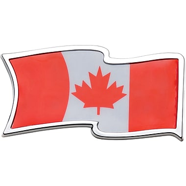 Badgez Chrome Emblems, CanadianWaving Flag Design