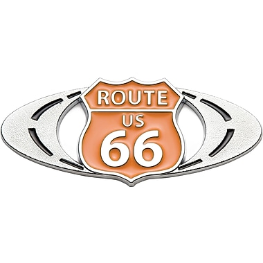 Badgez Chrome Emblems, Route 66 Design