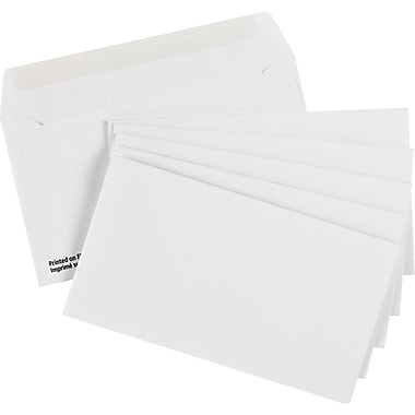 Staples® Envelopes White Premium #8, 3-5/8