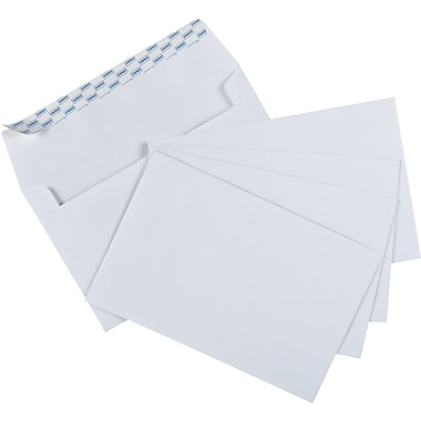 Staples® - Enveloppes d'invitation A9 Quick Strip™, blanches, 5 3/4 po x 8 3/4 po, bte/50