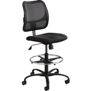 Safco Vue Fabric Computer and Desk Office Chair, Armless, Black (3395BL)