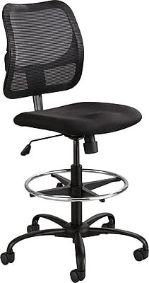 Safco® Vue™ Nylon Mesh Extended-Height Mesh Chair, Black, Armless (3395BL)