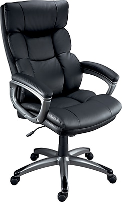 Staples Burlston Luxura Managers Chair, Luxura, Black, Seat: 18.1