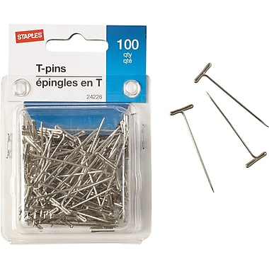Staples® T-Pins, 100/Pack