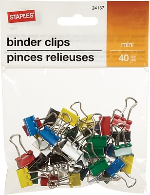 Staples® Binder Clip Mini 40 PK - Core