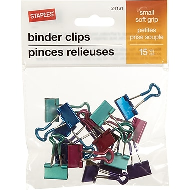 Staples® SoftGrip Binder Clips, Small 3/4