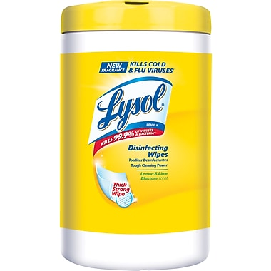 Lysol Disinfecting Wipes, Lemon and Lime Blossom Scent, 110 Wipes/Tub