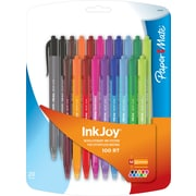 PaperMate InkJoy 100RT, Retractable Ballpoint Pens, Medium Point, Black and Assorted Ink Colors, 20/Packs