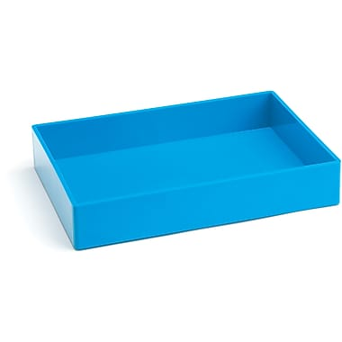 Poppin Medium Accessory Tray, Pool Blue, (100238)