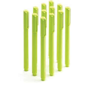 Poppin Lime Green Signature Ballpoint Pens
