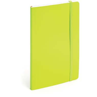 Poppin Medium Soft Cover Notebook, Lime Green (100007)