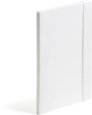 Poppin Medium Soft Cover Notebook, White (100002)