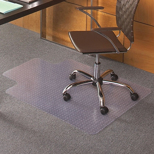 staples flat pile carpet chair mat 36 x 48 lip staples
