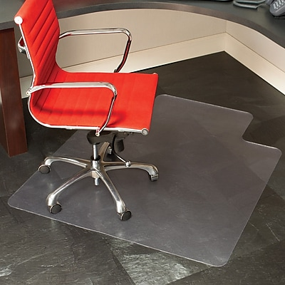 staples 45 x 53 hard floor chair mat with lip staples rh staples com floor mats for salon chairs floor mats for computer chairs