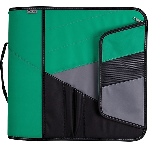 "Shop Staples For Mead® 3"" Zipper Binders With Handle"
