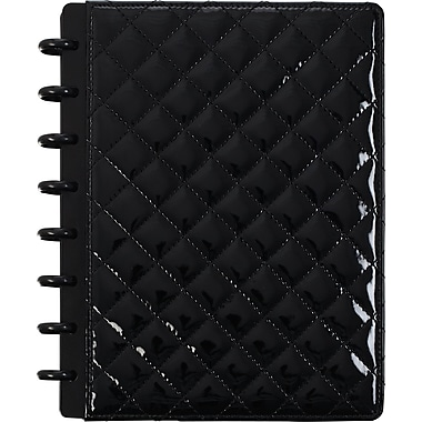 M by Staples™ Arc Customizable Patent Leather Notebook System, Quilted