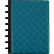 "Staples® Arc Customizable Patent Leather Notebook System, Teal Quilted, 9 1/2"" x 11 1/2"", Each (24742)"