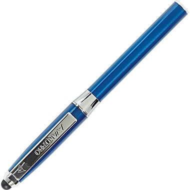 Staples AvantPro Stylus Pen with SilkScribe Ink, 1.0mm,Medium Point, Blue Metal Barrel, Each (24759)