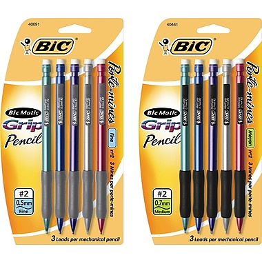 BIC® Grip Mechanical Pencil, 5/Pack