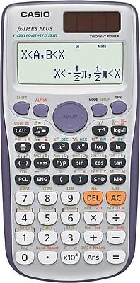 Casio® FX115ESPLUS Advanced Scientific Calculator, Silver