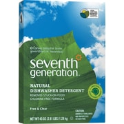 Seventh Generation® Free & Clear™ Dish Detergent Natural Automatic Non-Toxic Dishwasher Powder, Unscented, 45 Oz., Full Case