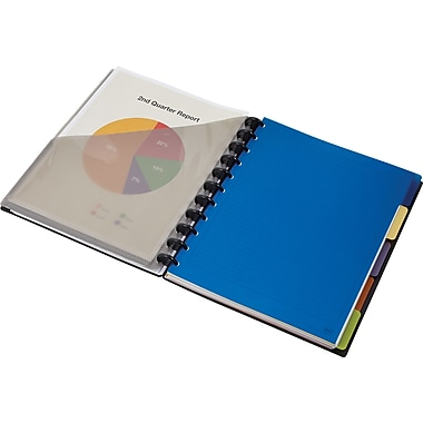 M by Staples Arc Customizable Durable Poly Notebook System with Accessories, 9-3/8