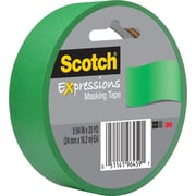 "Scotch® Expressions Masking Tape, 1"" x 20 yds., Green (3437-PGR)"