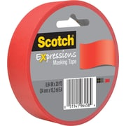 "3M Scotch® Expressions Masking Tape 1"" x 20 yds. Red (3437-PRD)"