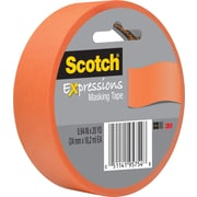 "Scotch® Expressions Masking Tape 1"" x 20 yds. Tangerine (3437-ORG)"