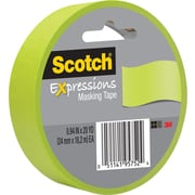 "3M Scotch® Expressions Masking Tape 1"" x 20 yds. Lemon Lime (3437-GRN)"