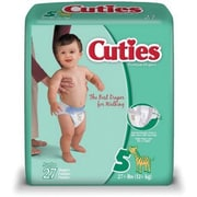 Cuties™ Premium Baby Diapers, Size 5, 108/Case