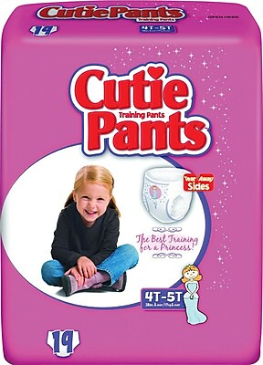 Cuties™ Training Pants, Girl 4T-5T, 76/Case