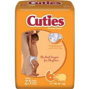 Cuties™ Premium Baby Diapers, Size 6, 92/Case