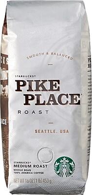 Pikes Peak Coffee >> Starbucks Pike Place Roast Whole Bean Coffee 1 Lb Bag Staples