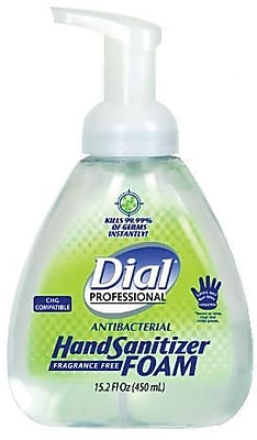 Dial® Professional Foaming Hand Sanitizer, Table Top Pump, 15.2 oz.