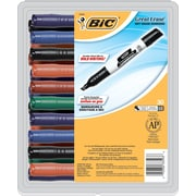 BIC® Great Erase® Grip XL Dry Erase Whiteboard Markers, Chisel Tip, Assorted Ink, 30/Pack