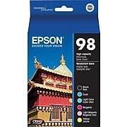 Epson 98 Black/Cyan/Light Cyan/Magenta/Light Magenta/Yellow High Yield Ink Cartridge, 6/Pack