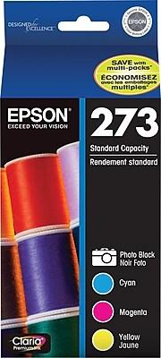 Epson 273 Photo Black & Color C/M/Y Ink Cartridges (T273520-S), Combo 4/Pack