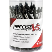 Pilot Precise V5 RT Premium Rolling Ball Pens, Extra Fine Point, Black, 30/Pack (84067)