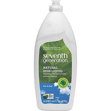Seventh Generation™ Natural Liquid Dish Soap, Free & Clear, Unscented, 25 oz. Bottle (22733)