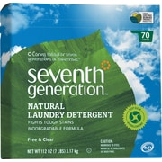 Seventh Generation® Free & Clear Natural Laundry Detergent, Unscented, 112 oz. Box