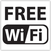 "Headline Signs® ""Free WiFi"" Window Sign, 6"" x 6"""